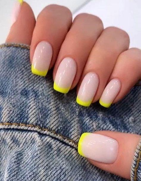 51 Amazing Spring Nail Art Designs Ideas To Try In 2020 amazingspringnail sprignail nailart naildesign nailideas Neon Nails, Pastel Nails, My Nails, Cute Gel Nails, Rock Nails, Bright Summer Acrylic Nails, Lilac Nails, Burgundy Nails, Yellow Nails