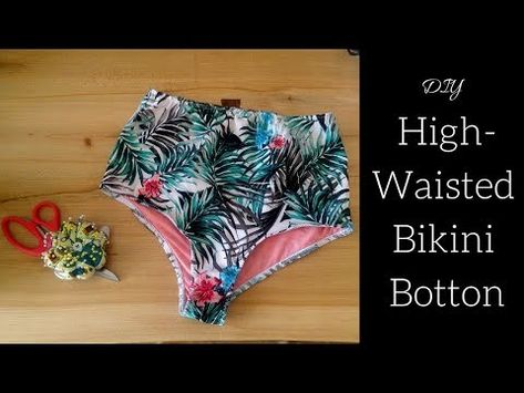 Here is a really easy tutorial for a high-waisted bikini bottom. To make this you will need of stretchy swim fabric, of a light swim .