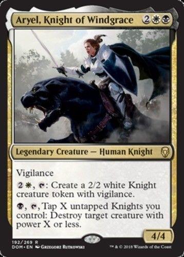 MTG x4 Knight of New Benalia Dominaria Common White NM//M Magic the Gathering