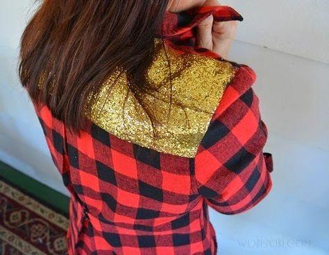 WobiSobi: Glitter Plaid Shirt, DIY