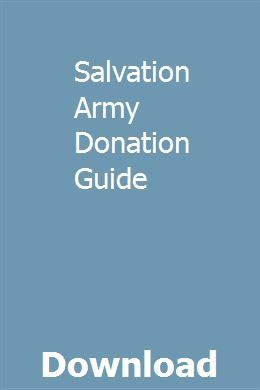Salvation Army Donation Guide Macwindmarpi Pdf Army