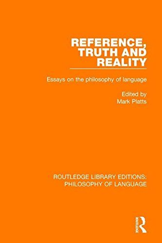 Reference Truth And Reality Essays On The Philosophy Of Https