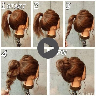 Novice Easy For Super Updos 21 Super Easy Updos For Beginners Novice Easy For Supe In 2020 Medium Hair Styles Classy Updo Hairstyles Easy Bun Hairstyles