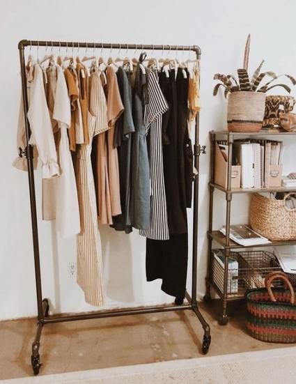 clothes rack aesthetic clothing rack