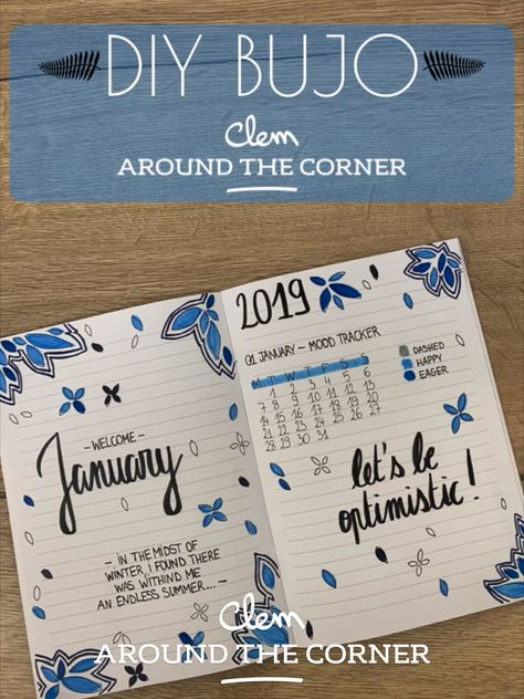 DIY do it yourself monthly cover january bullet journal 2019 winter do it your way habit tracker cover page home new year calligraphie calendar blog deco clem around the corner #diy #doityourself #bujo #bulletjournal #winter #hiver #bujotracker #bujo #mybujo #bujoinspiration #moodtracker #bujoideas #newyear #drawing #drawingtuto #drawing #easydiy #calligraphy #optimist #2K19 #newyear #calligraphie #january #janvier #calendrier #calendar #blog #deco #decoration