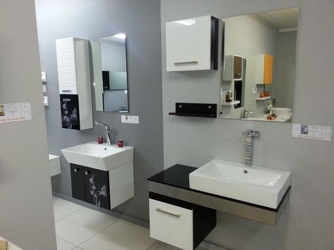 White High Gloss Lacquer Bathroom Cabinet Design From Oppeinhome