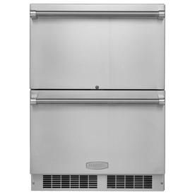 Marvel Outdoor 23 875 In Built In Freestanding Double Drawer Refrigerator Sta Stainless Steel Cabinets Stainless Steel Refrigerator Outdoor Kitchen Appliances