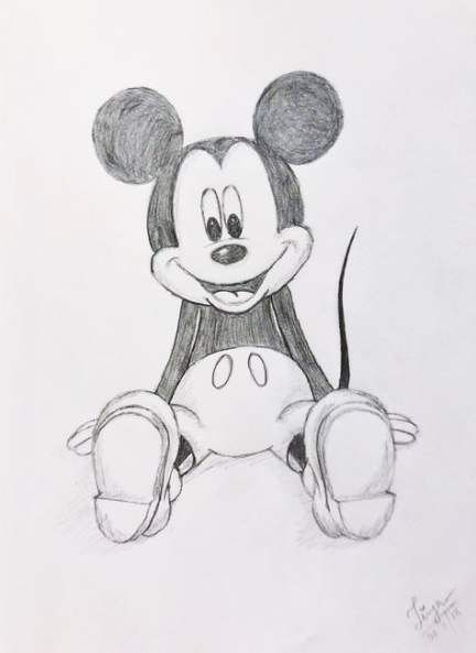 Drawing Disney Characters Easy Mickey Mouse 58 Trendy Ideas Disney Characters Easy Mickey Mouse Sketch Mickey Mouse Drawings