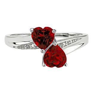 Israeli Rings Garnet  Silver Ring Israeli Jewelry Multistone Band Red Stone Ring January Birthstone Silver Garnet Band