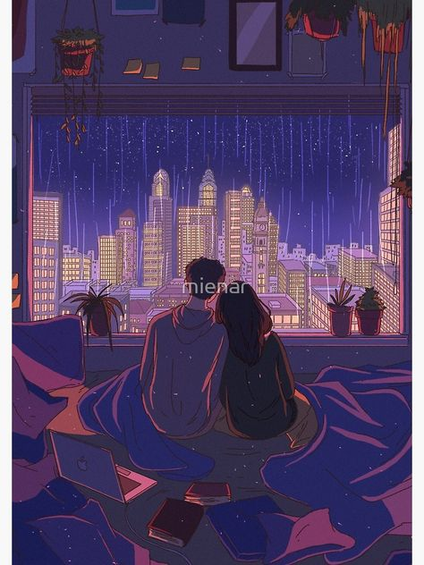 """""""city nights"""" Spiral Notebook by mienar 