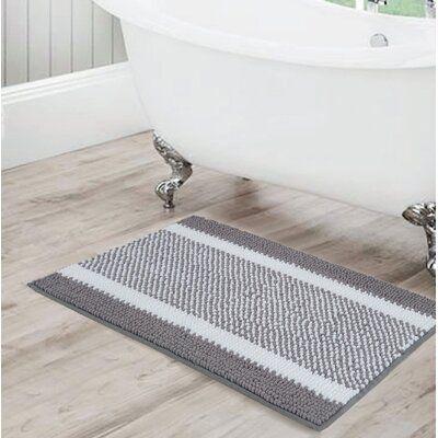 Rosecliff Heights Kailyn Bath Rug Grey Bathroom Rugs Chenille Bath Rugs Bathroom Rugs