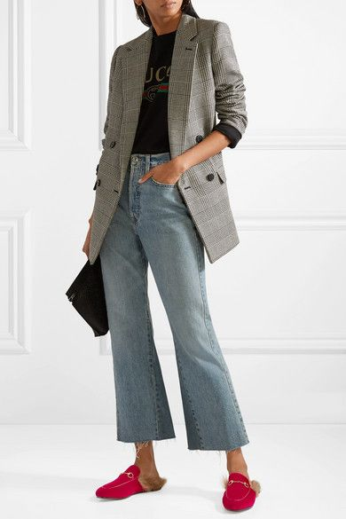 144fd8923 Gucci | Princetown horsebit-detailed shearling-lined velvet slippers |  NET-A-PORTER.COM