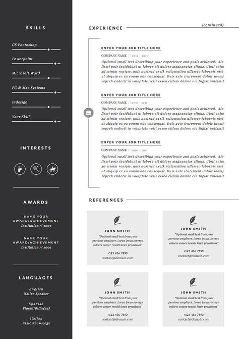 Modello Di Curriculum Professionale E Lettera Di Presentazione