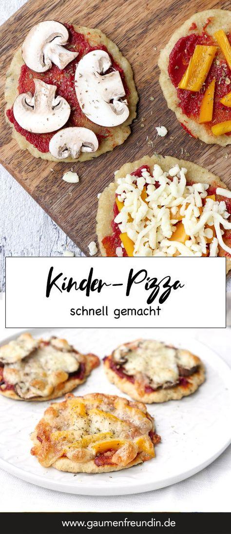 Schnelle Pizza für Babys und Kinder mit nur 7 Zutaten - Gaumenfreundin Foodblog #pizza #gesund #kinder #rezept #schnell #einfach #babys #kinder #quark #backofen #kinderpizza