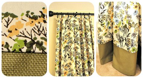DIY Curtains - Made using tablecloths on clearance at Target!
