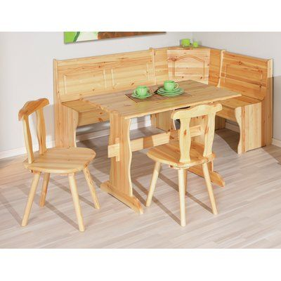 Awe Inspiring Union Rustic Wamsutter Corner Dining Set With 2 Chairs And Unemploymentrelief Wooden Chair Designs For Living Room Unemploymentrelieforg