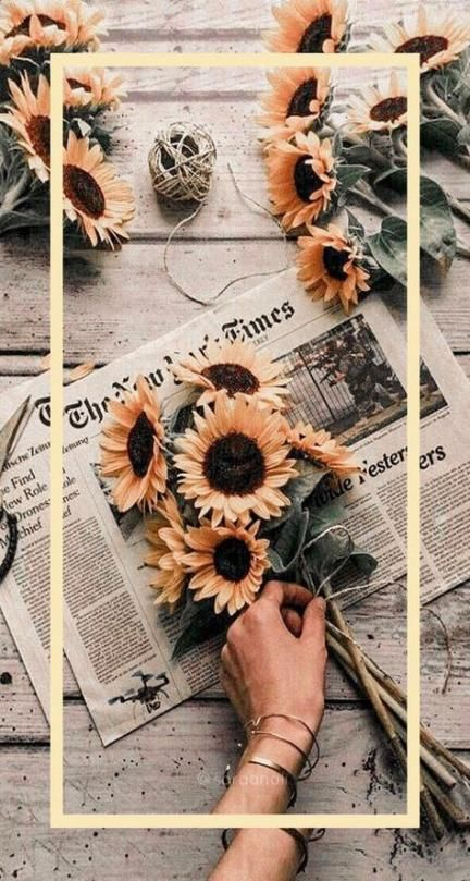 Wall Paper Iphone Vintage Sunflowers Phone Wallpapers 20 Ideas