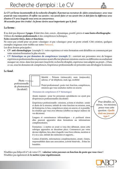 Pin On Votre Dossier Recherche D Emploi