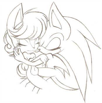 Snuggles By Un Genesis Hedgehog Art Hedgehog Drawing Sonic Art