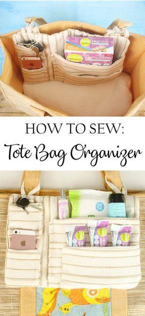 DIY Tote Bag Organizer & Everyday Wellness 2019 How to sew a Tote Bag Organizer. The post DIY Tote Bag Organizer & Everyday Wellness 2019 appeared first on Bag Diy. Tote Bag Organizer, Diy Tote Bag, Bag Organization, Sew A Bag, Sew Organizer, Bags To Sew, Quilted Tote Bags, Diy Bags, Sewing Hacks