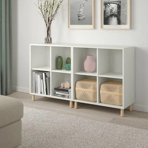 IKEA - EKET Storage combination with legs, White/wood