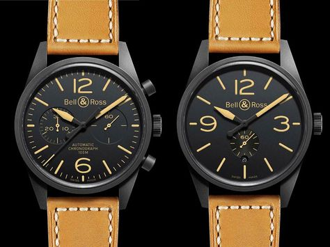 Bell and Ross Vintage Carbon Watch