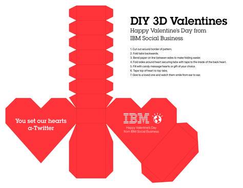 Happy Valentine's Day from IBM Social Business. Build your own DIY 3-D Valentine's heart.  http://ibmsocbiz.tumblr.com/image/76658601204