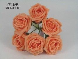 YF43AP - QUALITY  COTTAGE ROSE IN APRICOT COLOURFAST FOAM ...Visit our website to see our extensive range of colours.