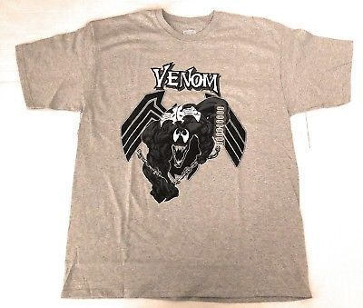 Details About Nwt Marvel Comics Spiderman Venom Gray And Black Graphic T Shirt Sz Xl In 2020 Mens Graphic Tee Mens Graphic T Venom Shirt