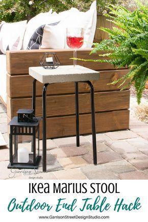 Ikea Marius Stool Outdoor Side Table Hack Garrison Street Design Studio Outdoor Patio Table Diy Patio Table Ikea Garden Furniture