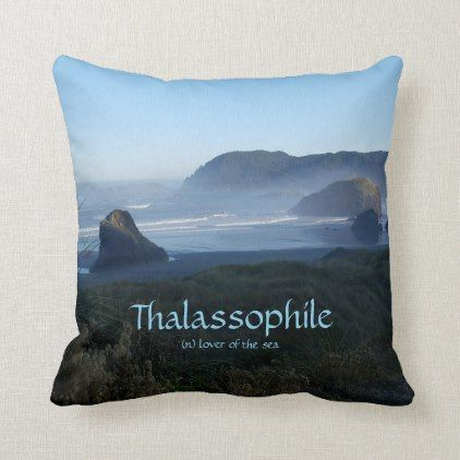 Thalassophile Lover Of The Sea Definition Throw Pillow Zazzle Com Ocean Images Ocean Lover Gifts Throw Pillows