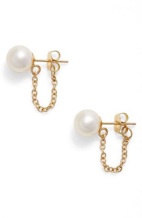 Women's Poppy Finch Pearl Ear Chains