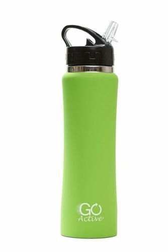 Insulated Water Bottle With Straw Stainless Steel Double Wall