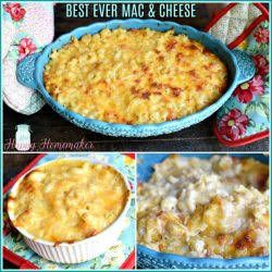 Best Ever Macaroni Cheese With Elbow Macaroni Evaporated Milk Whole Milk Large Eggs Sour Cream Butter Shredded Cheddar Che With Images Recipes Macaroni Cheese Food