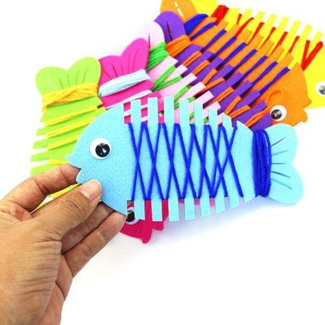 DIY-Fish-String-Line-Winding-Toy-Handmade-Educational-Kids-Children-Toys-AM7
