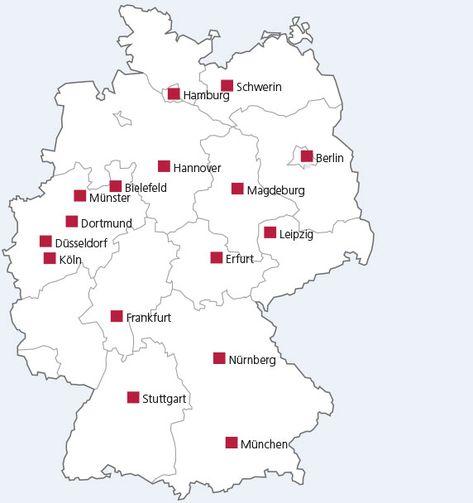 Magdeburg Deutschlandkarte Deutschlandkarte Magdeburg Map