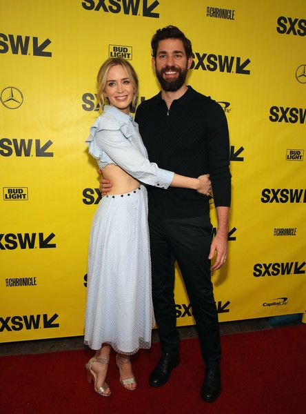 Actress Emily Blunt and director John Kransinski attend the Opening Night Screening and World Premiere of 'A Quiet Place' during the 2018 SXSW Film Festival.