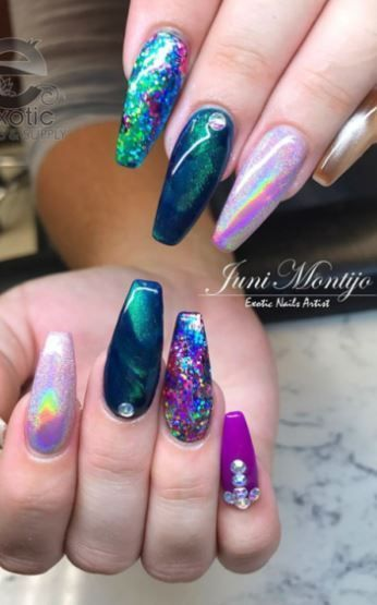 21 Best Colorful Acrylic Nails Designs 2018 colorfulnail