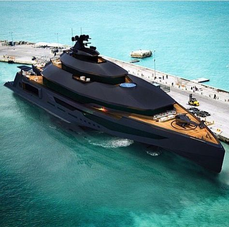 Black Matte Caliber Super Yacht Via Thegentlemensmagazine