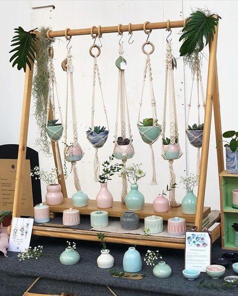 Macrame Plant Hangers and Display rack