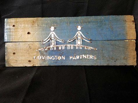 Pallet wood, Aluminium, Covington Partners