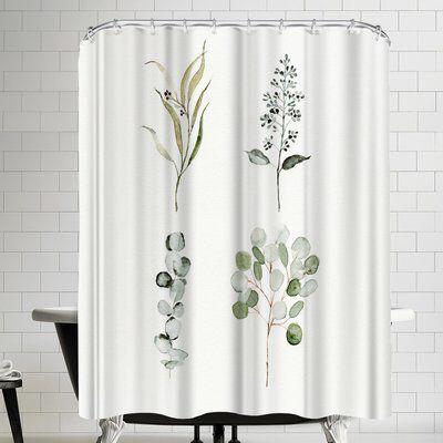Eucalyptus Single Shower Curtain Shower Curtain Curtains Shower