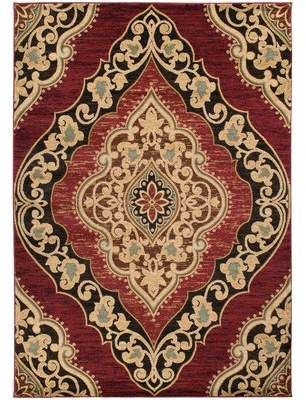 Mayberry Rug Hometown Amelia Red Black Area Rug Mayberry Rug In