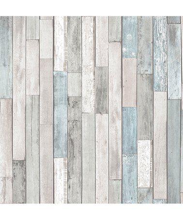 Gray Weathered Plank Shore Peel Stick Wallpaper Zulily Zulilyfinds Wood Effect Wallpaper Rustic Wood Wallpaper Wood Wallpaper