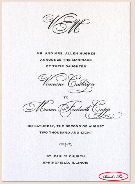 Formal dress wedding invitation wording wedding the wedding dress code breakdown letterpress invitation stopboris Choice Image