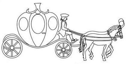 Enchanting Pumpkin Cinderella Carriage Coloring Picture Cinderella Carriage Cinderella Pumpkin Carriage Horse Coloring Pages