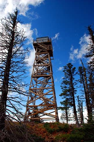 Hadley Mountain Fire Tower Watch Tower Lookout Tower Fire