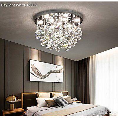 Modern Crystal Chandelier Lights Flush Mount Luxury Ceiling Crystal Chandeliers Lighting Round Led Ceiling Lamp For Living Room Bedroom Cheap