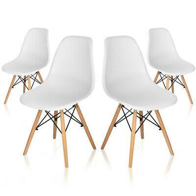 Dettagli Su Set 4 Sedie Bianca Design In Legno E Resina Sedia Da Cucina Soggiorno Ufficio Nel 2020 Sedia Cucina Arredamento Sala Da Pranzo E Sedia Design