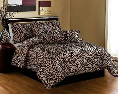 Details About Leopard Print Comforter Set Bed In A Bag Shams Skirt